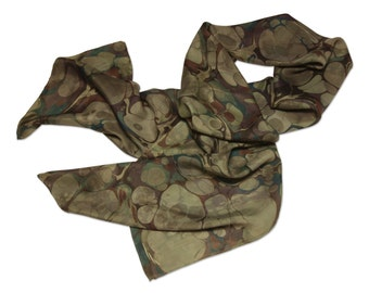 Olive Grove - Silk scarf Women's items Olive, dark green