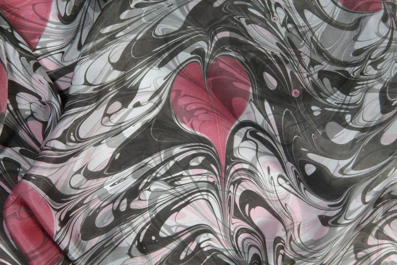 Valentine's Gift Pink hearts white and grey marbled  Only image 0