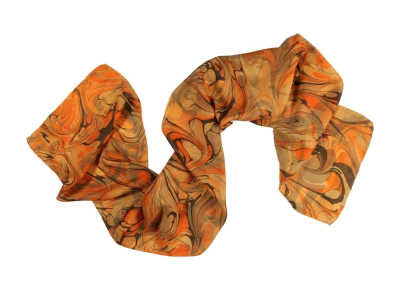 Homemade Silk Scarf Orange Bliss Free Style image 0