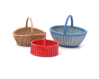 Set of 3 Baskets in 1:24 scale or 1/12 scale NEW!