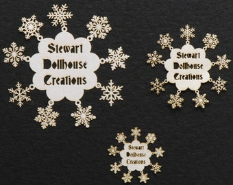 12 Miniature Snowflakes NEW!