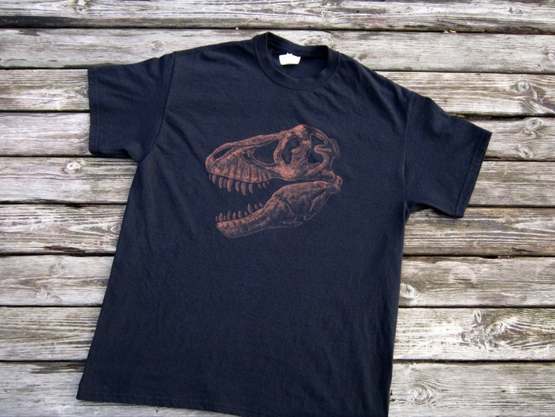 3dc6feb70 T-REX SKULL T-Shirt Realistic Dinosaur Shirt Scientifically | Etsy