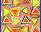 Crazy Button wonky block quilt paper piecing Pattern INSTANT DOWNLOAD PDF