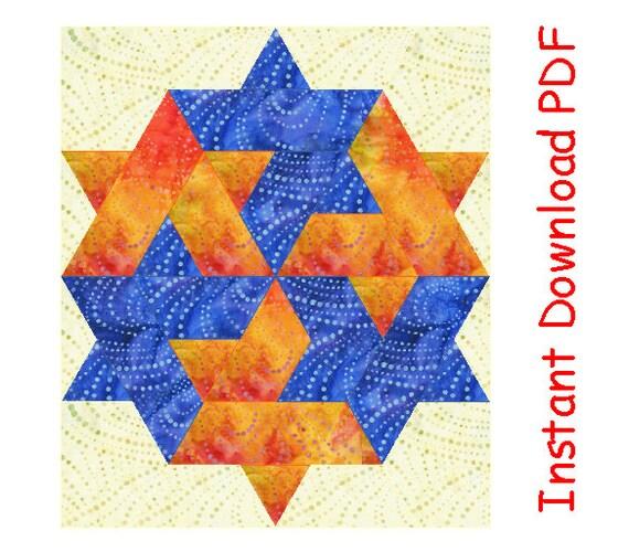 Gewinner Lucky Star Quilt-Block-Muster Papier genäht | Etsy