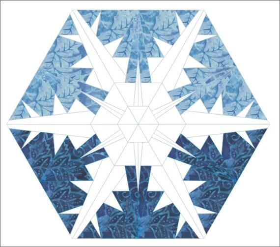 Schneeflocke 3 Papier genäht Quilt Sechseck Muster Winter | Etsy