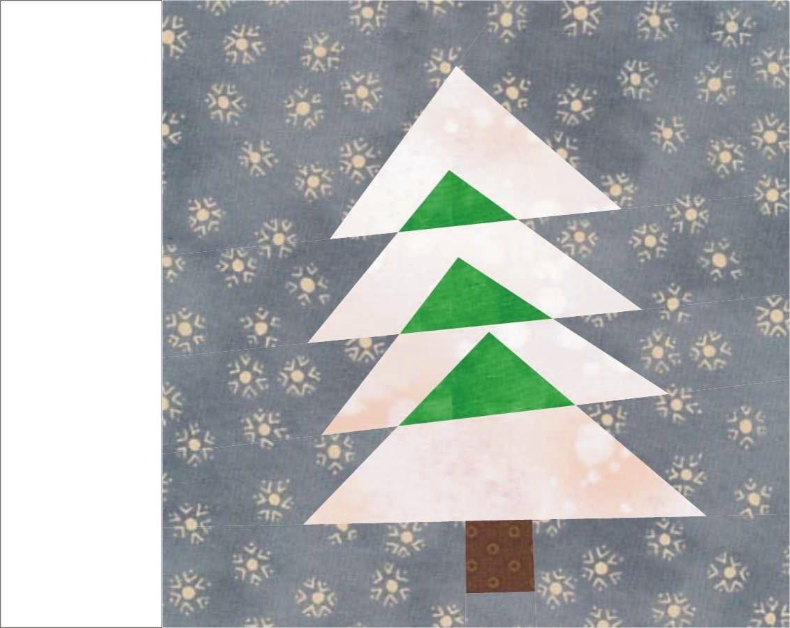 Christmas Tree 1 Paper Pieced Quilt Block PDF Pattern