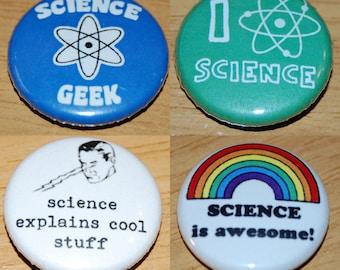Science Badge 25mm / 1 inch Geek Nerd