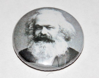 Karl Marx Photo Button Badge 25mm / 1 inch