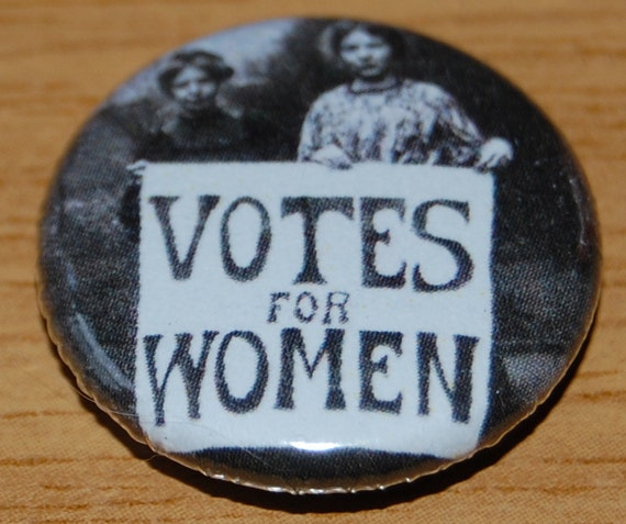 Votes For Women Photo Button Badge 25mm 1 Inch Suffragette Etsy