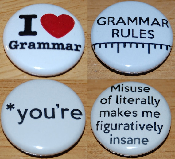 """THERE THEIR 25mm 1/"""" Button Badge THEY/'RE NOT THE SAME Cute Novelty Grammar"""