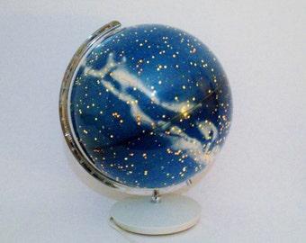 Vintage Illuminated Celestial Globe made in Germany c1970 Columbus - TREASURY PICK