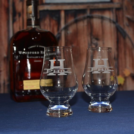 2 Personalized Crystal Glencairn Glasses 6 Oz