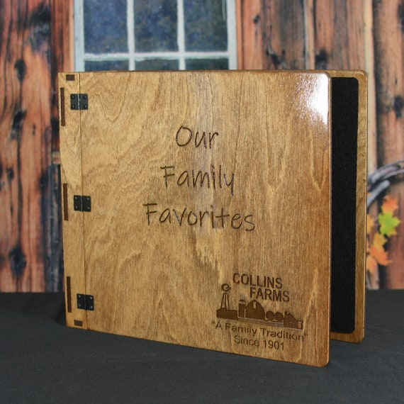 """Extra Thick Personalized 8.5x11 Binder, Scrapbook, Cookbook, or Presentation Book, 3 Ring Mechanism with 3"""" Rings"""