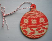 Wooden bauble Christmas decoration