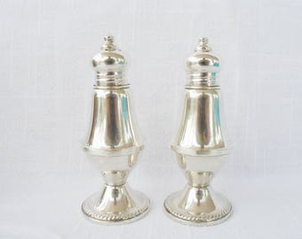 Vintage DUCHIN CREATIONS Sterling Silver Footed Salt & Pepper SHAKERS
