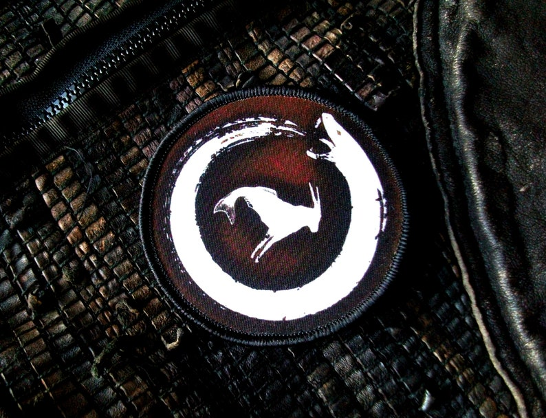 printed design Mountain King Forge Logo Morale patch heritage crafts Military Brown 3