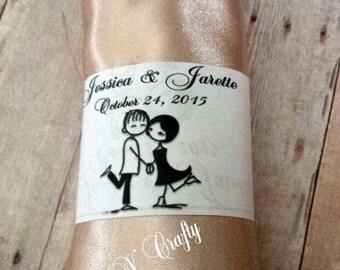 COUPLE LOVE DIY Printable Napkin Ring Wraps. Bridal Shower Wedding Napkin Wrap