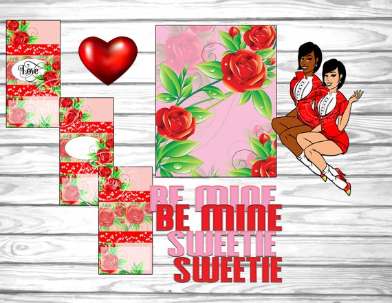 Commercial Use,Valentine/'s Day Sweetie Be Mine Pin Up Girl,Valentine/'s Favor,Candy Bar Wrapper Templates Candy Bar Wrapper Set,