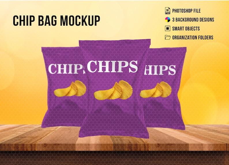 Chip Bag Photoshop Mockup Template Chip Bag Mockup PSD Mockup Instant Download Template
