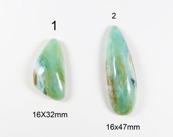 Peruvian Opal Cabochons - Green Semiprecious Gemstone Cabs, Sold by the Piece