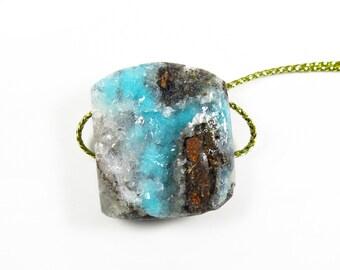 Aqua Druzy Pendant Focal Bead