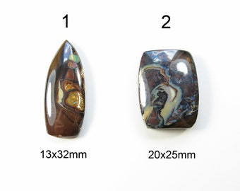 Koroit Boulder Opal - Semiprecious Australian Gemstone Cabochons, Sold by the Piece