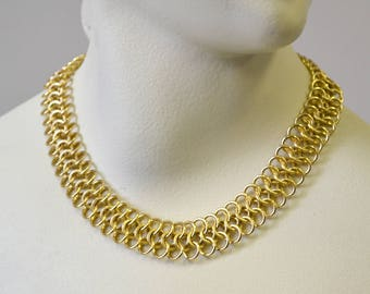 1950s Gold Link Chain Necklace
