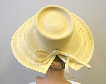 433455501abf8a 1960s Frank Olive Straw Sun Hat