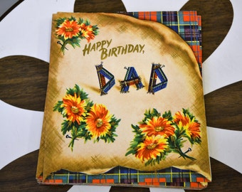 1950s NOS Dad Birthday Card with Envelope