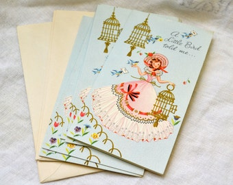 1950s NOS Get Well Greeting Card with Envelope