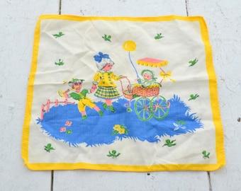 1960s Children Handkerchief