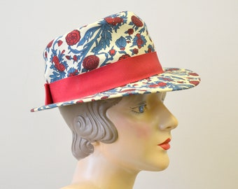 1950s Sally Victor Floral Hat