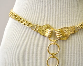 1960s Hands Chain Link Belt