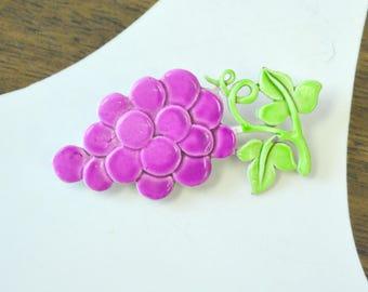 1960s Grapes Brooch