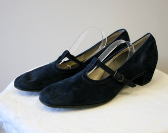 723896579b49 Navy Suede Mary Janes