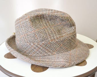 0500e0d5242 1960s Harvard Tweed Fedora