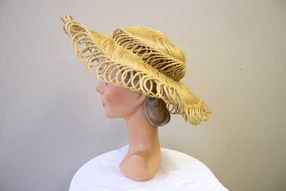 1940s Loopy Grass Sun Hat - image 4