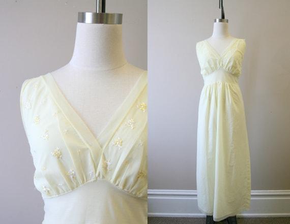 1950s Belinda Yellow Night Gown