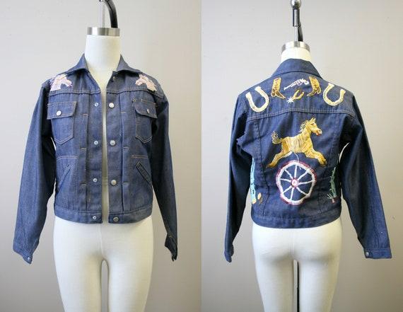 1970s Western Embroidered Denim Jacket