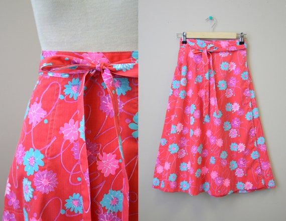 1960s Liza by Lilly Pulitzer Printed Wrap Skirt