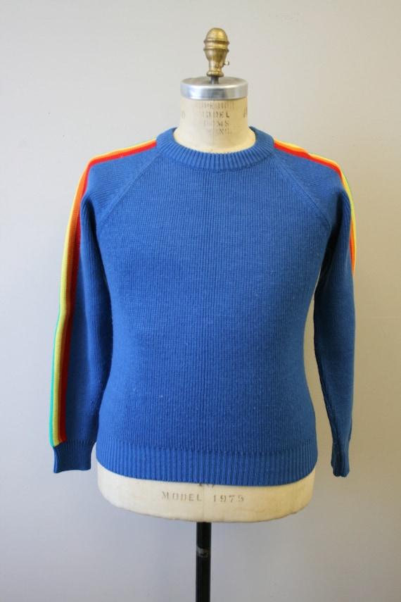 1970s Rainbow Stripe Sweater - image 2