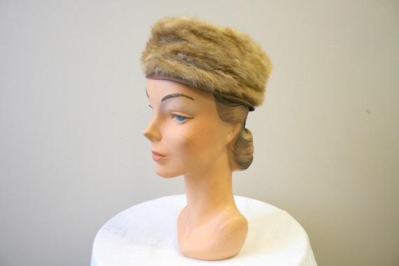 1960s Dece Blond Fur Hat - image 1