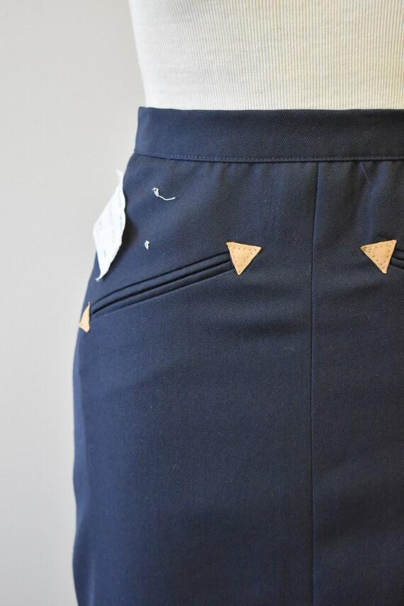 1970s NOS Black Western Style Skirt - image 3