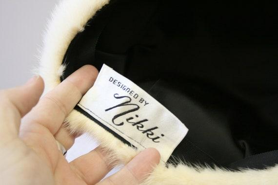 1960s Nikki White Fur Hat - image 6