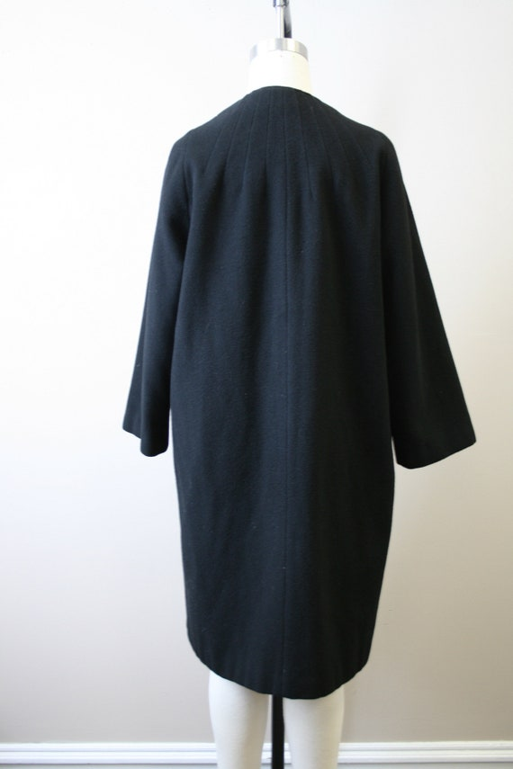 1950s Black Cashmere Coat - image 5