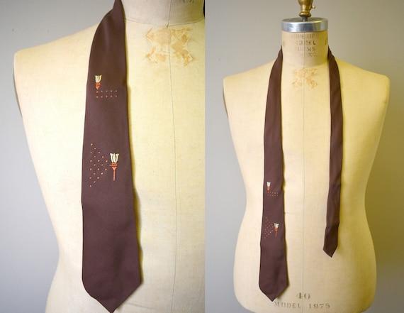 1950s Haband Sheen Gabardine Necktie