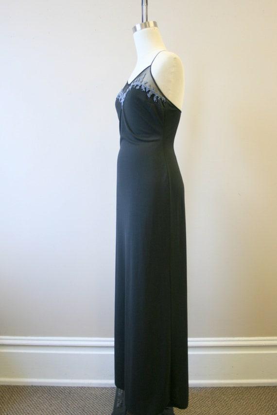 1990s Cache Black Beaded Slip Dress - image 4