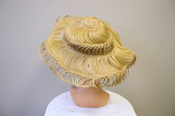 1940s Loopy Grass Sun Hat - image 3