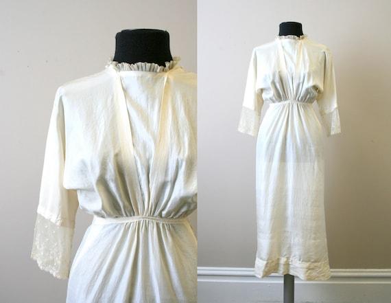 Edwardian Cream Silk Dress