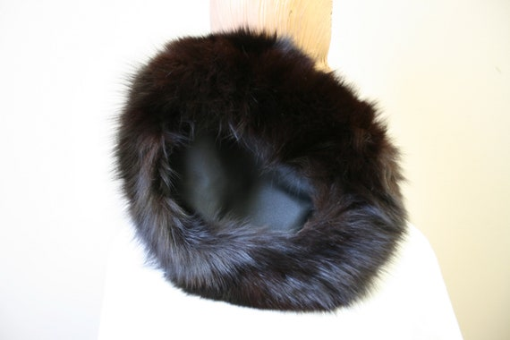 1960s Dark Brown Fur Hat - image 6